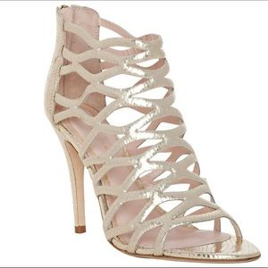Elie Tabaria 'Lola' champagne caged sandals